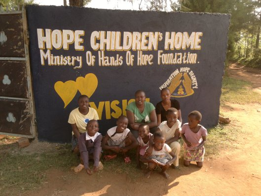 Some of the Girls & the Front Gate at Hope Children's Home in Kitale, Kenya